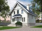 Проект одноэтажного жилого дома с мансардой, террасой и балконом